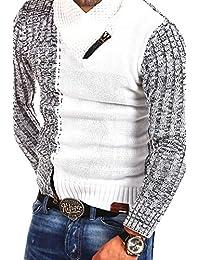 Tazzio pull en tricot col châle 14-423