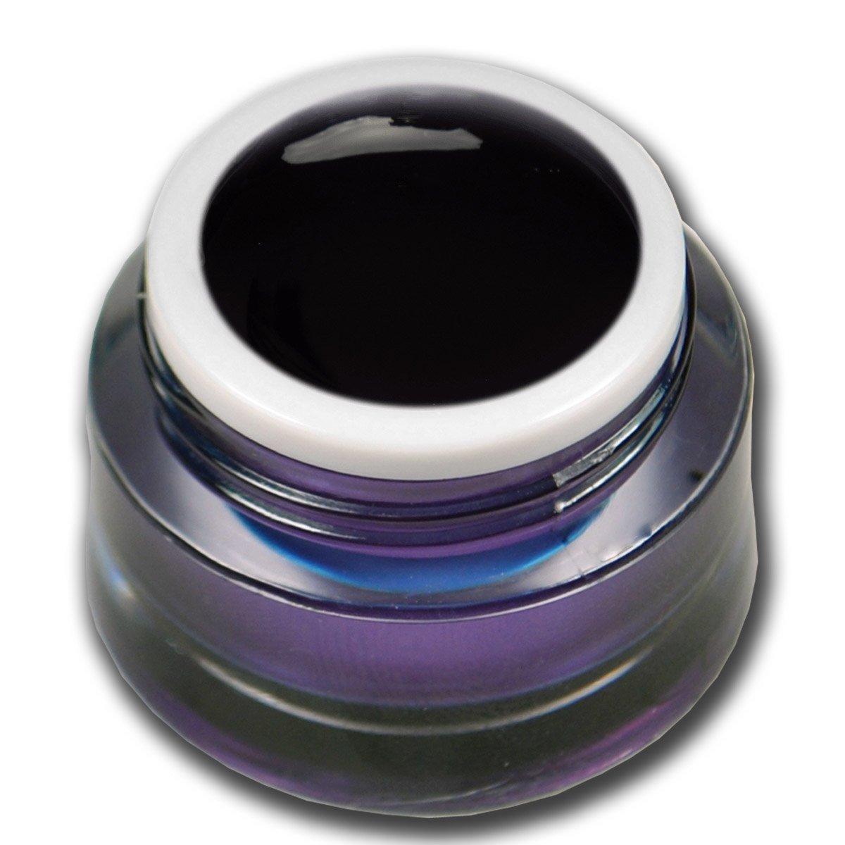 Premium Gel vetro colorato nero 5ml Gel UV Unghie Nail Art