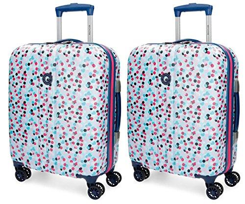 Set de maletas de cabina Movom Confeti Azul rígidas 55cm