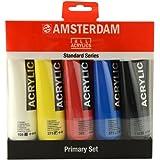 Amsterdam - Set di colori acrilici, 5 colori primari, 120 ml