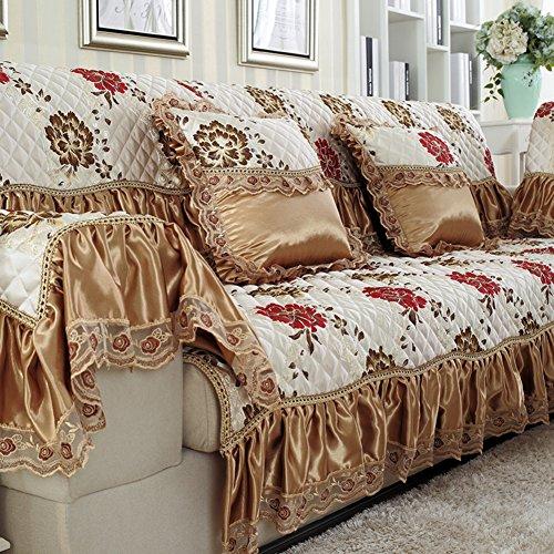 Winter Leinen Sofa Handtuch/Slip Sofa Handtuch/Vier Jahreszeiten,Stoffe,Sofa-handtuch/Europäisch Anmutende Sofa Handtuch/Sofabezug/Sofa-A 90x240cm(35x94inch)