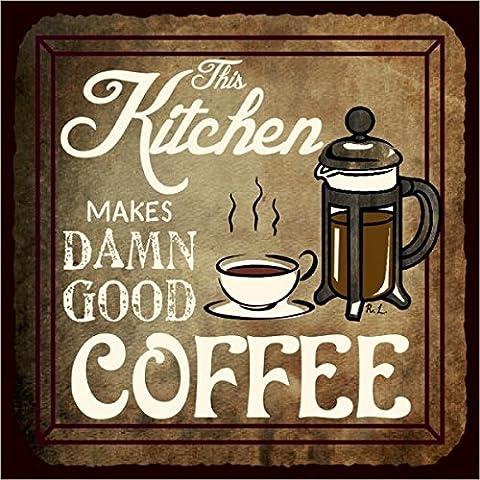 Questo cucina Damn ottima Caffè Vintage metallo Art Cafe Retro