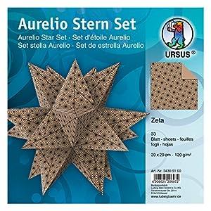 Ursus 34295500-Aurelio Estrella de Hojas, Impreso en Papel de estraza, Castor