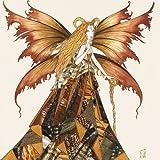 Alu-Dibondbild Johara - Fe du Capricorne - 110 x 110cm - Premiumqualität - Sternzeichen, Steinbock, Fabelwesen, Fee, Elfe, Fantasy, Modern, Illustration, Schlaf.. - MADE IN GERMANY - ART-GALERIE-SHOPde