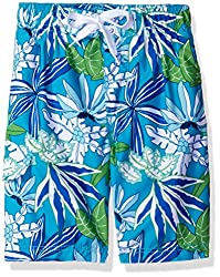 Kanu Surf Big Boys Aruba Floral Swim Trunk, Aqua, X-Large (18/20)