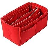 NEPAK Organizzatore di feltro per donne (con borsa rimovibile),Feltro Organizer da Borsa,Borsa di pannolini (Rosso)