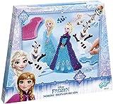 Totum Frozen Bastel-Set, Bügelperlen-Bilder mit zwei verschiedenen Eiskönigin-Motiven (Elsa, Olaf), Stickern und Steckplatten, Geschenk für Mädchen