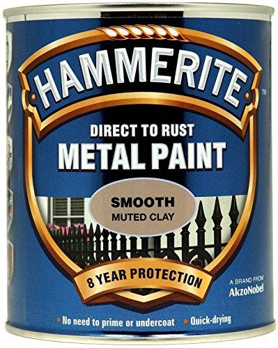 Preisvergleich Produktbild Hammerite Metall-Schutzlack,  Direkt auf Rost,  glänzend,  lehmfarben,  HMMSFMC750