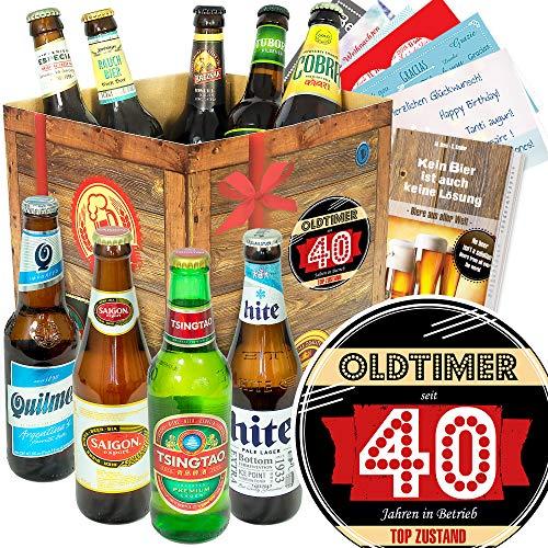 Oldtimer 40 - Bierset - Biere der Welt - Lustige Geschenke zum 40.