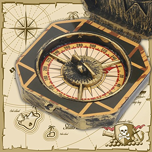 WMFL Piratenkapitan-Kostüm Spielzeug Nautischer Kompass Kinder Geschenk Geburtstag