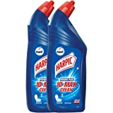 Harpic Disinfectant Toilet Cleaner Liquid, Original - 1 L (Pack of 2) | Kills 99.9% Germs