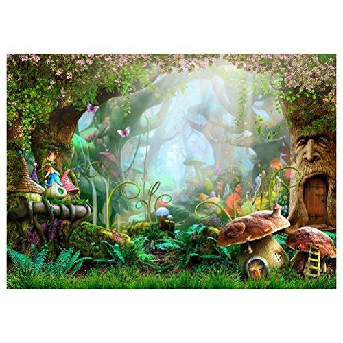 ledmomo Wonderland Foto Hintergrund Tuch 3D FAIRYLAND Cartoon Studio Hintergrund Wand Requisiten 90x 150cm (846)