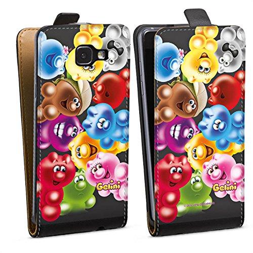 DeinDesign Tasche kompatibel mit Samsung Galaxy A5 (2016) Flip Case Hülle Gelini Gummibaerchen Bunt