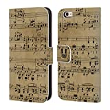 Head Case Beethoven Partitions Musicales Étui Coque de Livre En cuir pour Apple iPhone 6 / 6s