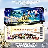 Wedding Cards Walt Disney World Florida Orlando Disneyland Paris Land - Cartera para Tarjetas de Visita, diseño con Texto en inglés All Characters