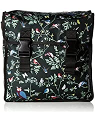 BASIL WANDERLUST-DOUBLE BAG, double bag, of water-repellent polyester, 35L, charcoal