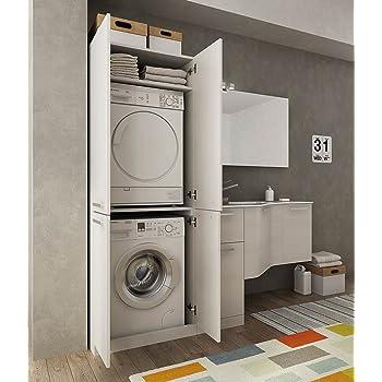 Dafnedesign.com - Mobile lavanderia porta lavatrice e cesti bucato ...