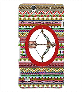 PrintDhaba Bow and Arrow D-3024 Back Case Cover for SONY XPERIA C4 (Multi-Coloured)