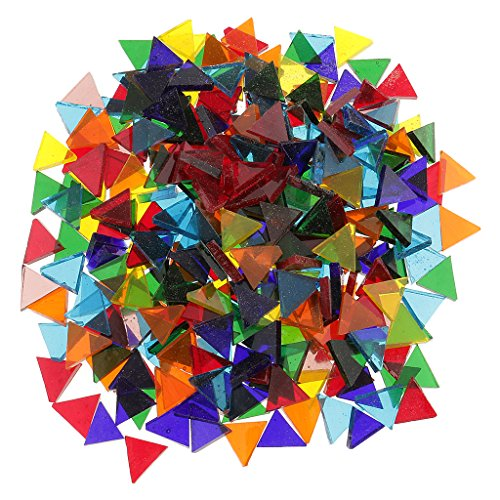 MagiDeal 250 Pièces Assorties Tuiles De Mosaïque En Verre Transparent DIY Artisanat - Triangle