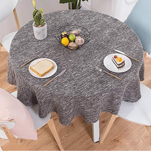 Startseite Nordic Pastoral Cotton Kleine frische Tischdecke Stoff Restaurant Runde große Tischdecke...