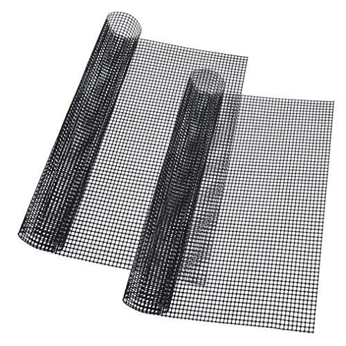 baotongle 2 Stück Grillmatte,Backmatten Gebacken Antihaftend,Hitzebeständiger Antihaft Grill und Backmatte ideal zum Brötchenaufbacken,42 * 36 cm