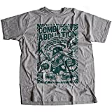 A002-220g Combi Abduction Herren T-Shirt Alien UFO Save Your Combi They Come Comics Space Geek Classic(Large,Sportsgrey)