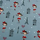 0,5m Jersey Schlittschuh-Mädchen in Paris blauer