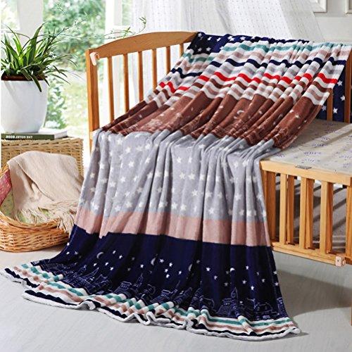 Eazyhurry leicht Flanell Samt Fleece Kuscheldecke Super Soft Plüsch Überwurf Bedruckt Super Warm Fuzzy Mikrofaser Bettwäsche Decke für Sofa/Bett/Couch, City Sky, Queen(79