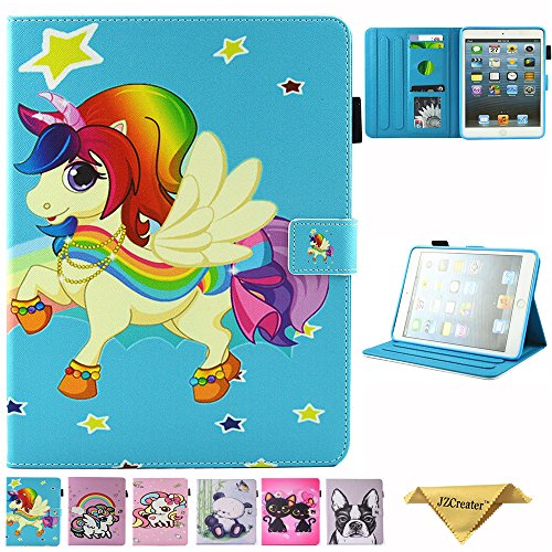 Tablets & E-books Case Computer & Office Honesty Wekays Sfor Apple Ipad Mini 3 2 1 Cute Cartoon Unicorn Leather Funda Case For Ipad Mini 1 2 3 Tablet Cover Cases For Ipad Mini 2 Handsome Appearance