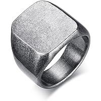 Vnox Nome in acciaio inossidabile da uomo Data Personalizza Fascia da matrimonio Anello con sigillo in peltro vintage…