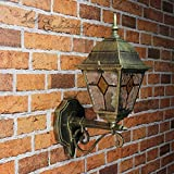 Antigua pared exterior lámpara lámpara de pared con cristal estilo Tiffany velocidad E27230V Iluminación Exterior Jardín Patio