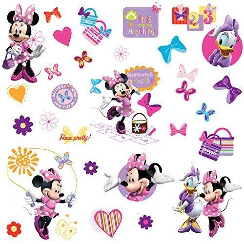 RoomMates RM - Disney Minnie und Daisy Wandtattoo, PVC, bunt 29 x 13 x 2.5 cm