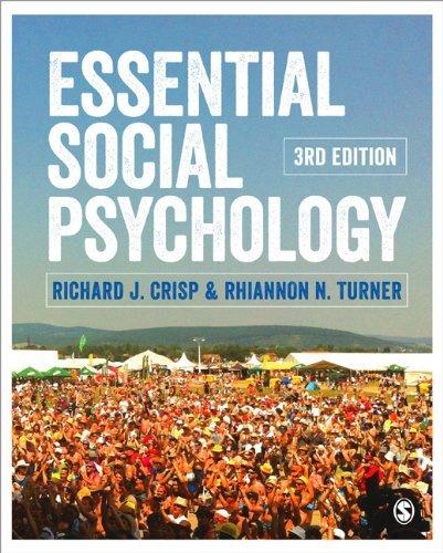 Essential Social Psychology (Sage Edge): Written by Richard J. Crisp, 2014 Edition, (Third Edition) Publisher: SAGE Publications Ltd [Paperback]
