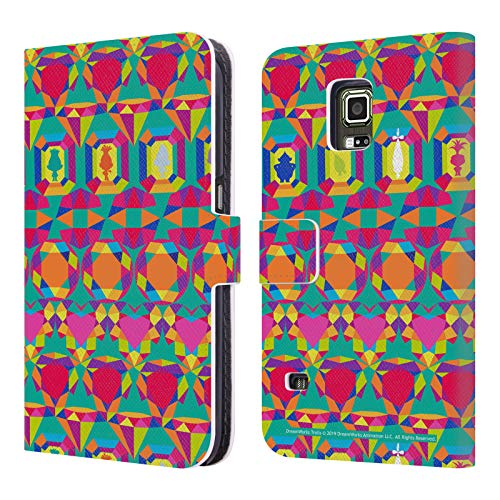 Head Case Designs Offizielle Trolls Geometrisch Tribalistische Muster Leder Brieftaschen Huelle kompatibel mit Samsung Galaxy S5 Active (Phone Cases Galaxy S5 Active)
