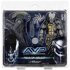 Alien Figuras de acción 51624, 17 cm, depredador, Celta dañado de Batalla vs Rejilla Dañada de Batalla, Juego de 2 11