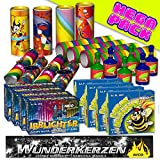 Silvester Feuerwerk Set PartyFun 47-tlg.: Tischbomben, Wilde Hummel, Partyknaller, bunte Luftschlangen & Co. - jugendfreies Feuerwerk Partydeko