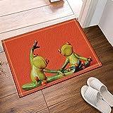 cdhbh Cartoon Frosch Creative Design Badewanne Teppiche rutschhemmend Boden Eingänge Outdoor Innen vorne Fußmatte, 39,9x 59,9cm Badvorleger Badematte Bad Teppiche