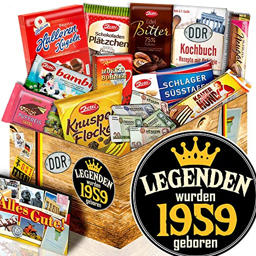 Legenden 1959 ++ Geschenke 60. Geburtstag ++ Ossi Paket Schokolade L -