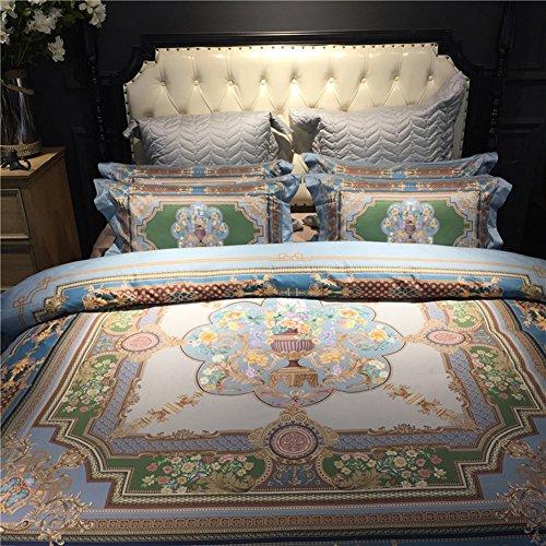 Set di biancheria da letto in cotone jacquard 100% set di copripiumini per letto da ricamo set senza piumino biancheria da letto matrimoniale in tessuto per la casa (220 * 240cm / 86.61 * 94.48in),3