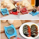 DIMDIM Edelstahl gekochte Eierschneider Cutter Pilz Slicer Cutter Kochen Werkzeuge Zufällige Farbe