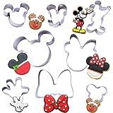 Ensemble de 8 emporte-pièces Mickey Minnie - Formes de coupe-gâteau en acier inoxydable, moules de cuisson pour sandwich au p