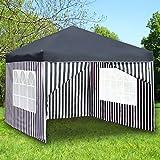 Monkey Mountain Faltpavillon 3x3 Meter -mit oder ohne Seitenwände auswählbar- Partyzelt (Pavillon Ohne Seitenwände, Blau)