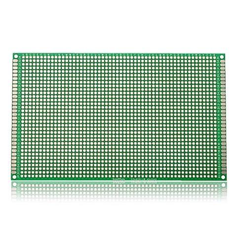 Bluelover 5Pcs 90 * 150 Mm Fr-4 À Double Face Prototype Pcb Imprimé Circuit Board