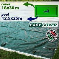 Telo di copertura invernale per piscina 12,50 X 25 mt predisposto per tubolari