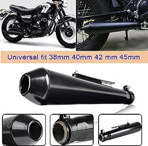 Universal 38mm 40mm 42mm 45mm Motorrad Cafe Racer Mattschwarz Vintage Auspuff Endrohr Schalldämpfer Für Harley Bobbers H O N D A Crf230f Crf150f Auto