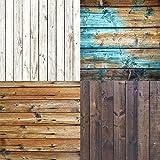 Studiopro Photography creative in legno sfondo per studio fotografico Wood vinyl-assortiti Four Pack