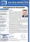 Aktien Monitor 8 2018 General Electric SAP Akasol Zeitschrift Magazin Einzelheft Heft Börsenbrief