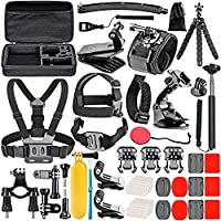 Neewer 8-In-1 Action Camera Accessory Kit for GoPro Hero Session/5 Hero 1 2 3 3+ 4 5 6 SJ4000 5000 6000 DBPOWER AKASO VicTsing APEMAN WiMiUS Rollei QUMOX Lightdow Campark And Sony Sports DV and More