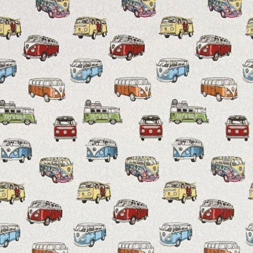 Jacquard-stoff-tasche (Gobelin Bulli VW — Meterware ab 0,5 m — zum Nähen von Kissen und Tagesdecken, Tischdekorationen und Taschen)