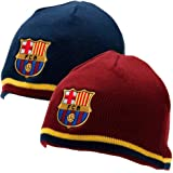 FC Barcelona Reversible Knitted Hat - Barca Beanie - Official Barcelona Product - One Size Fits Most - 100% Acrylic - Reversi